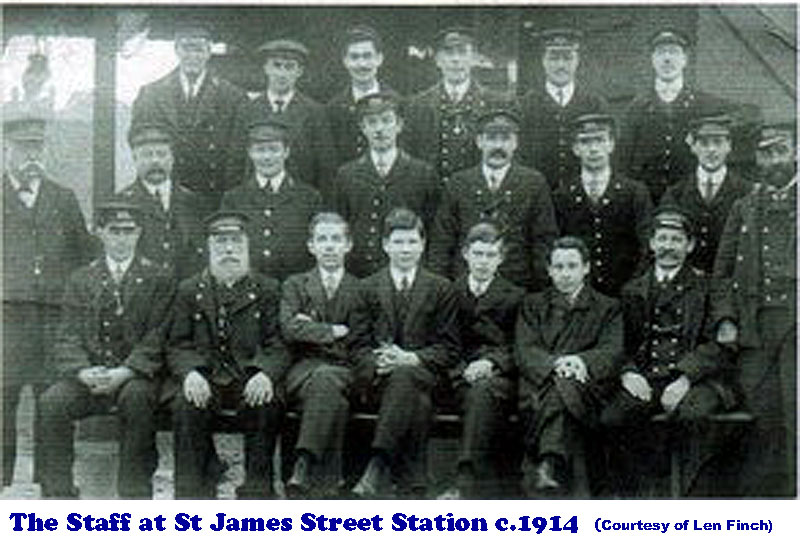 Staff at St James Street Station c.1914
