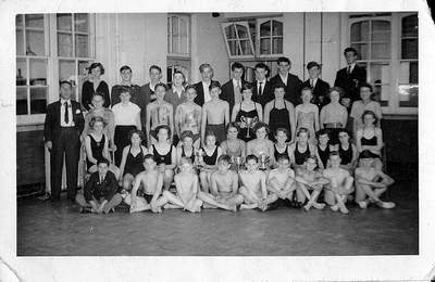 McGuffie - Swimming team 1955