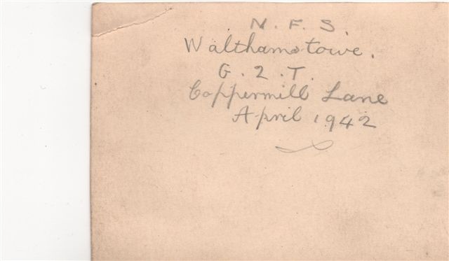 Walthamstow, Coppermill ARP - 1942 (reverse)