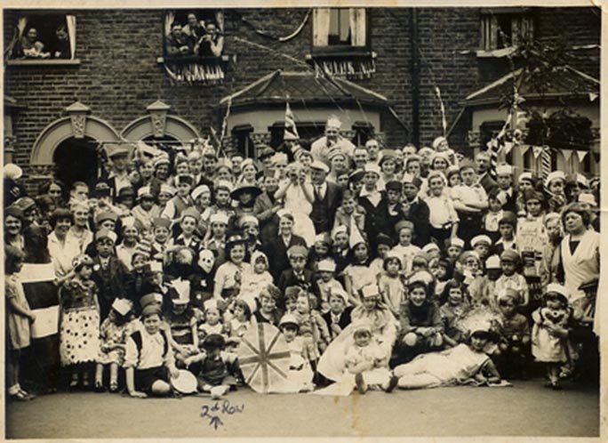 "Picture of Street Party Borwick Ave - Queen""s Coronation 1953"