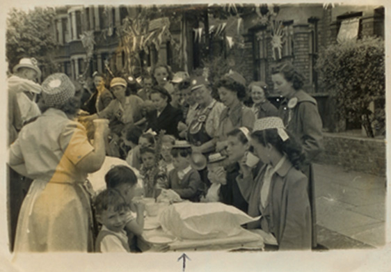 Picture of Street Party Borwick Ave - Queen's Coronation 1953 (2)
