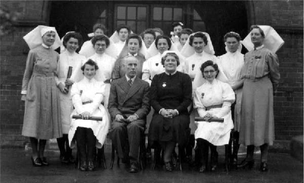 Newly qualified nurses - Whipps Hospital c.1944.